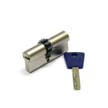 Механизм цилиндровый Mul-T-Lock 7x7 90мм (35*55) кл/кл с шестеренкой никель