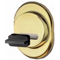 Броненакладка магнитная на сувальдный замок DISEC MR01 DМ-5 OS мат.латунь