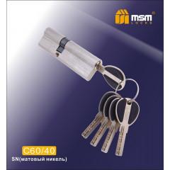 Цилиндровый механизм MSM-100мм (60-40) ключ-ключ никель