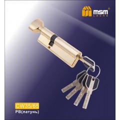 Цилиндровый механизм MSM-100мм (В35-65) ключ-вертушка латунь
