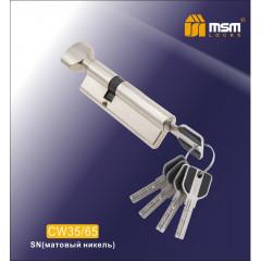 Цилиндровый механизм MSM-100мм (В35-65) ключ-вертушка никель