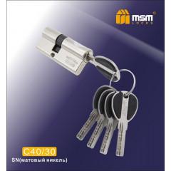 Цилиндровый механизм MSM-70мм (40-30) ключ-ключ никель