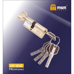 Цилиндровый механизм MSM-70мм (В30-40) ключ-ключ латунь