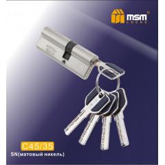 Цилиндровый механизм MSM-80мм (45-35) ключ-ключ никель