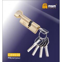 Цилиндровый механизм MSM-80мм (В45-35) ключ-вертушка латунь