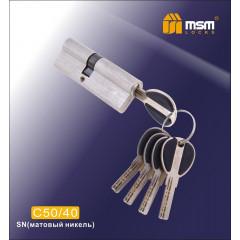 Цилиндровый механизм MSM-90мм (50-40) ключ-ключ никель