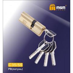 Цилиндровый механизм MSM-90мм (55-35) ключ-ключ латунь