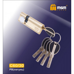 Цилиндровый механизм MSM-90мм (60-30) ключ-ключ латунь