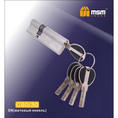 Цилиндровый механизм MSM-90мм (60-30) ключ-ключ никель