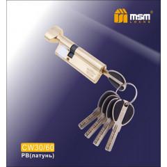 Цилиндровый механизм MSM-90мм (В30-60) ключ-вертушка латунь