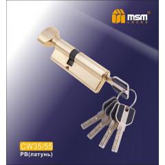 Цилиндровый механизм MSM-90мм (В35-55) ключ-вертушка латунь