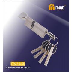 Цилиндровый механизм MSM-90мм (В35-55) ключ-вертушка никель
