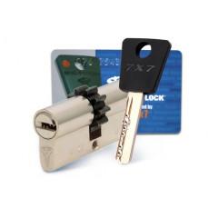 Цилиндровый механизм Mul-T-Lock 7x7, L71 (33-38) с шестеренкой, ключ-ключ