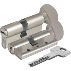 Цилиндровый механизм с вертушкой Kale 164 DBM-E/90 (40+10+40) mm никель