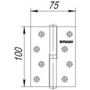 Петля съемная 413/BL-4 100x75x2,5 PN right (перл. никель) правая БЛИСТЕР
