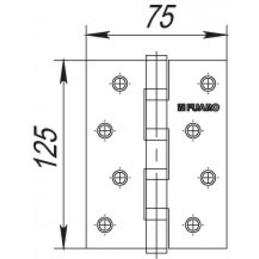 Петля универсальная 4BB/BL 125x75x2,5 CP (Хром) БЛИСТЕР