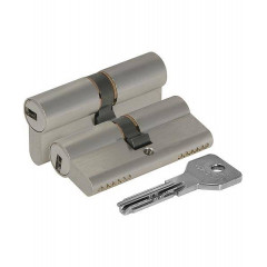 Цилиндровый механизм Cisa ASIX OE300-19.12 (80 мм/30+10+40), НИКЕЛЬ