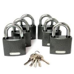 Замки навесные Apecs (Апекс) PD-01-63 (6 замков + 5 ключей)