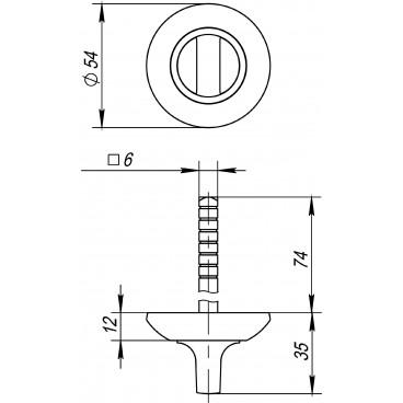 Ручка поворотная BKW6 AR-AB/GP-7 (без ответной части)