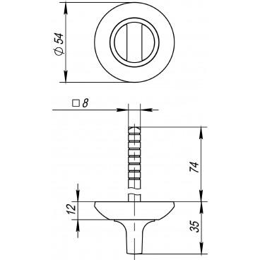 Ручка поворотная BKW8 AR-GP/SG-5 (без ответной части)