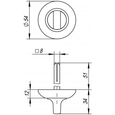 Ручка поворотная BKW8 RM-GP/SG-5