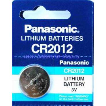 Батарейка PANASONIC CR2012 дисковая 3В
