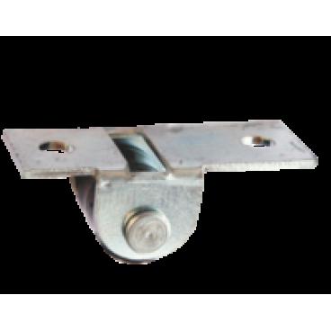 Ролик выкатной № 531-01 цинк (прямая платформа)
