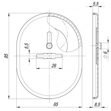 Декоративная накладка Fuaro ESC 476 GP ЛАТУНЬ на сувальдный замок с шторкой