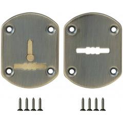 Декоративная накладка ESC021-ABG-6 (БРОНЗА) на сув. замок со шторкой (2 шт)