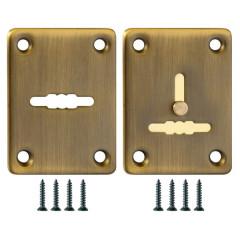 Декоративная накладка ESC081/082-AB-7 (МАТОВАЯ БРОНЗА) на сув. замок сталь (1 пара)
