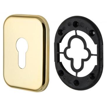 Декоративная Квадратная накладка на цилиндр ET-DEC SQ (ATC Protector 1) GP-2 Золото