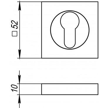 Накладка под цилиндр ET KM SN/CP-3