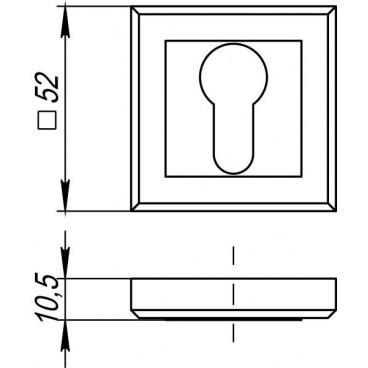 Накладка под цилиндр ET QL SN/CP-3 матовый никель/хром