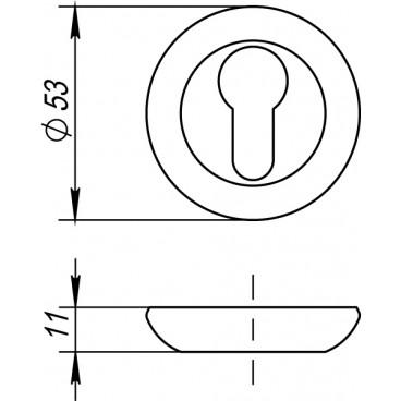Накладка под цилиндр ET RM ABG-6 зеленая бронза