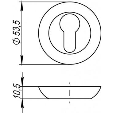 Накладка под цилиндр ET TL SN/CP-3 матовый никель/хром