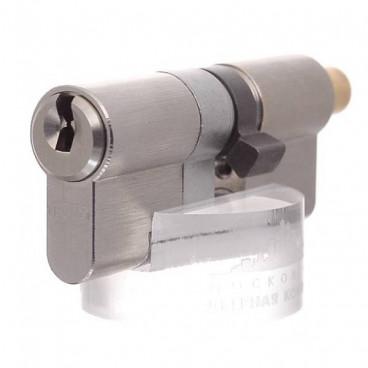Цилиндровый механизм EVVA ICS кл/верт. 72 мм (36+36B) хром