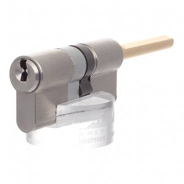 Цилиндровый механизм EVVA ICS 77 мм (46+31) кл/шток, никель