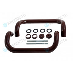 Ручки-скобы Фурал РД-01 R300 mm (d 30 mm) RAL 8017, коричневая