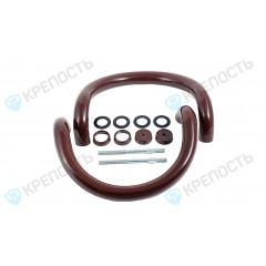 Ручки-скобы полукруг Фурал РД-03 R350 mm (d 30 mm) RAL 8017, коричневая