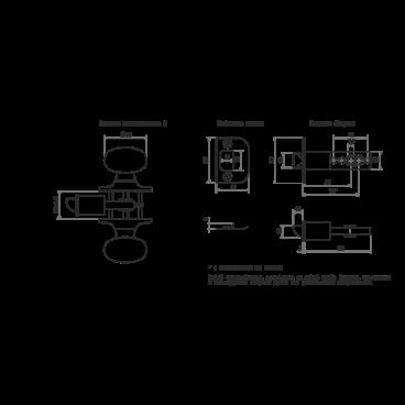 Защелка Нора-М Н-05 (мат.никель)