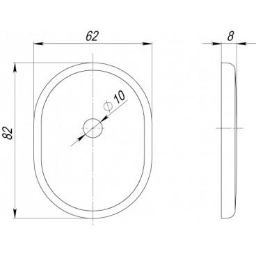 Декоративная накладка на цилиндр со штоком BK-DEC (ATC Protector 1) SN-3 Матовый никель