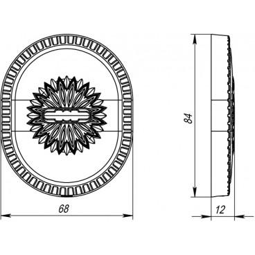 Декоративная накладка на сувальдный замок PS-DEC CL (ATC Protector 1) ABL-18 Темная медь