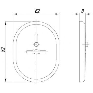 Декоративная накладка на сувальдный замок со шторкой PS/VC-DEC (ATC Protector 1) CP-8 Хром