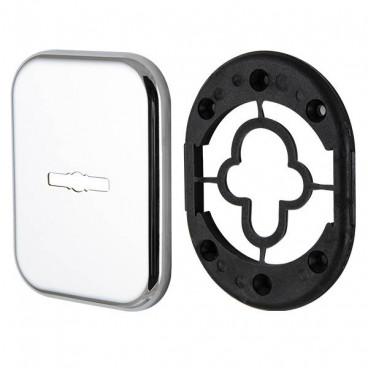Декоративная Квадратная накладка на сувальдный замок PS-DEC SQ (ATC Protector 1) CP-8 Хром