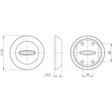 Накладка под сувальдный ключ SC RM SN/CP-3 (1 шт.)