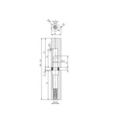 Петля приварная T1/160-20 ADJ с подшипником регулируемая