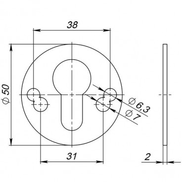 Проставочное кольцо Armadillo (Армадилло) для броненакладки Protector (2 мм)