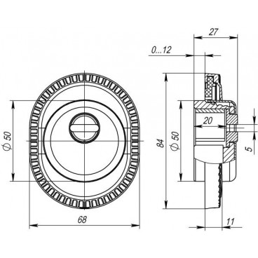 Броненакладка на цилиндр Armadillo ET/ATC-Protector 1CL-25 BB-17 Коричневая бронза