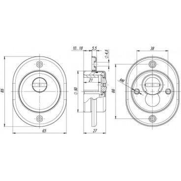 Броненакладка Fuaro DEF 4925 GP латунь