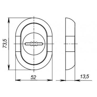 Накладка под сувальдный ключ ESC-13S с автоматическими шторками CP-8 хром